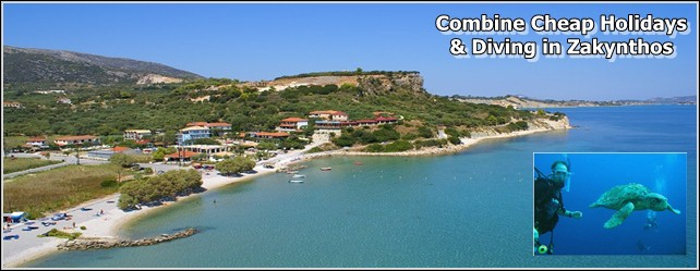 Cheap Accommodation in Zante and Diving for your holidays